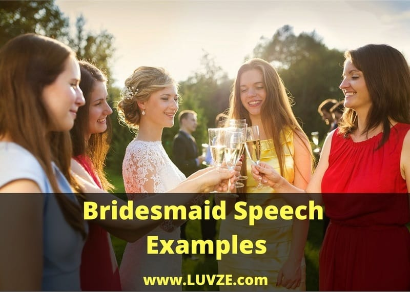 Bridesmaid Speech Examples