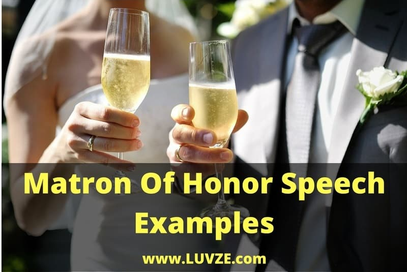 Matron Of Honor Speech Examples
