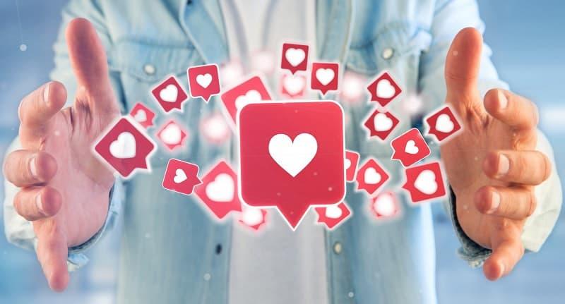 Facebook hearts