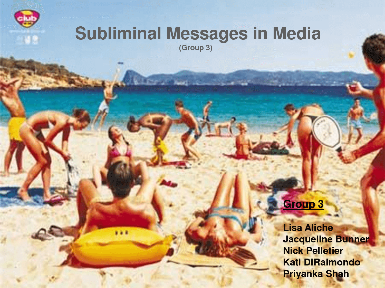 Subliminal Advertising Sex 99