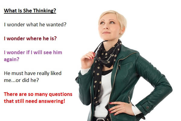 Woman Thinking About A Man