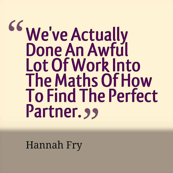 Make The Most Of Love: Hannah Fry Quote