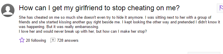 How to tell a cheating girlfriend