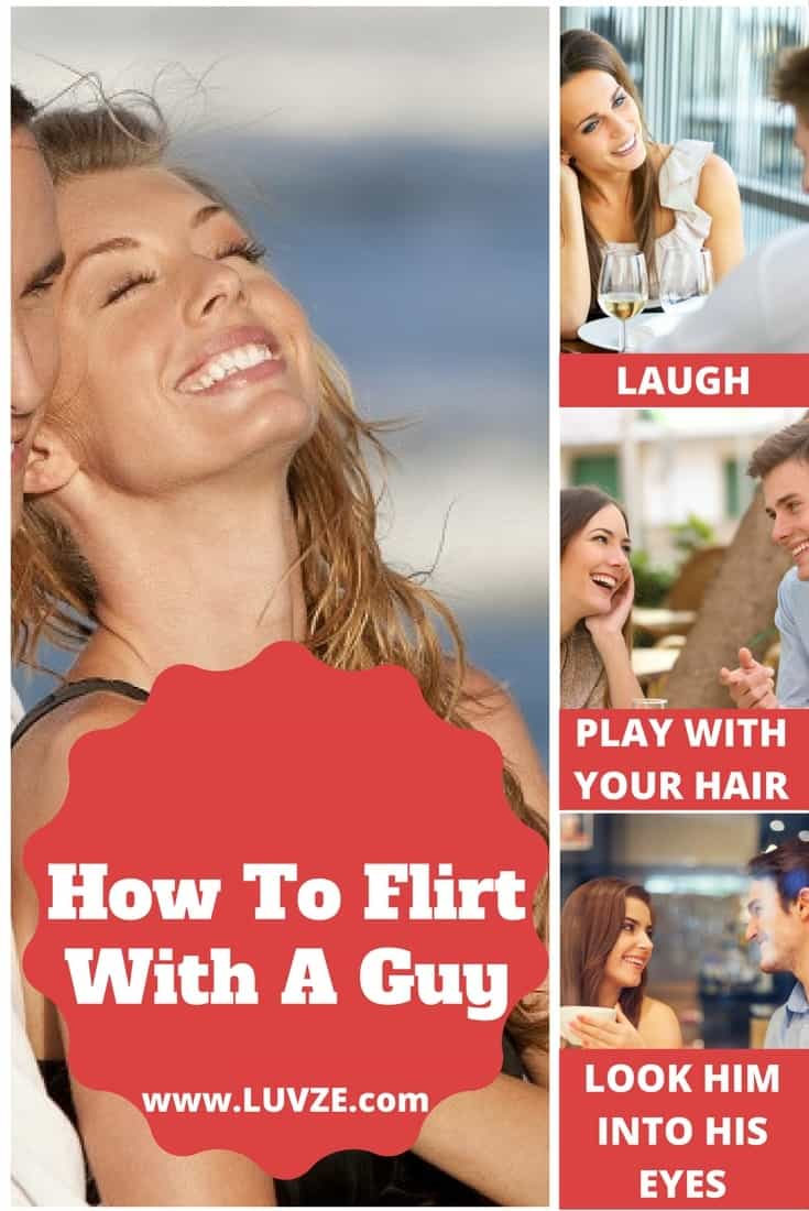 how to flirt with a guy in person