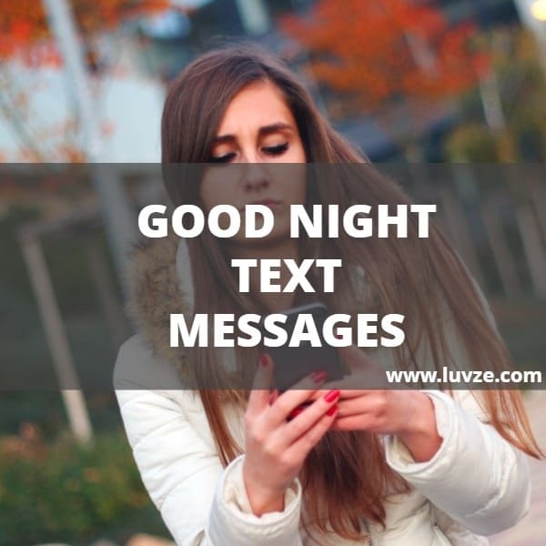 what to text a girl goodnight