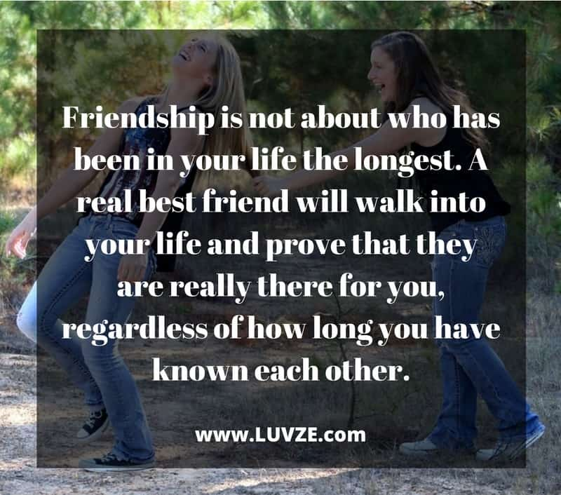 Long Quote About Friendship Fair Cute & Funny Best Friend Quotes 140 Bff Quotes With Images