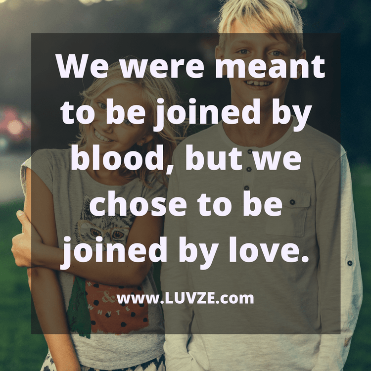 Love Quote For Brother: 135 Cute Brother Sister Quotes, Sayings And Messages