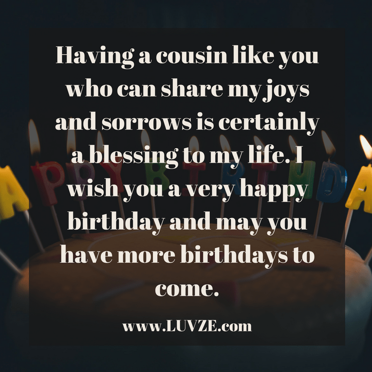 Happy Birthday Cousin Quotes, Wishes, Sayings & Messages