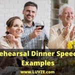 Rehearsal Dinner Speech Examples