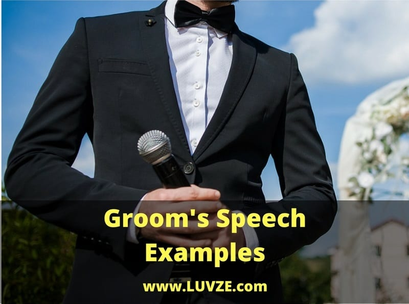 Groom's Speech Examples