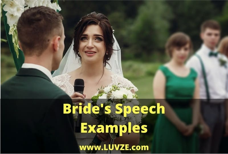 bride's speech examples