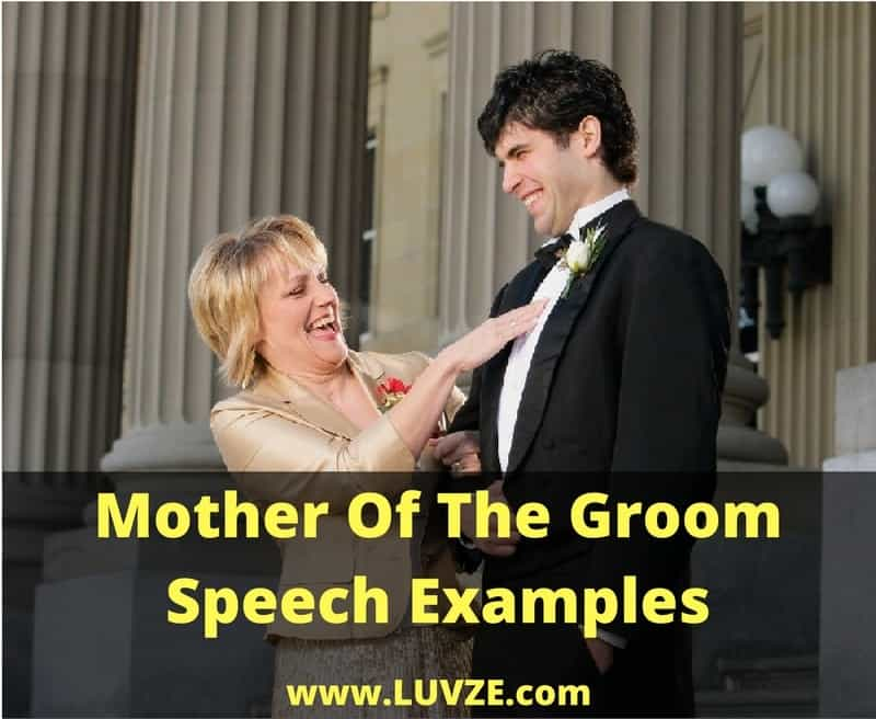 Mother Of The Groom Speech Examples