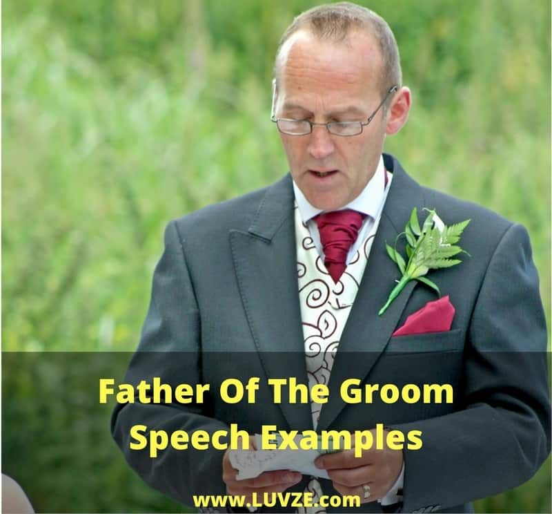 Father Of The Groom Speech Examples