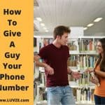 how to give a guy your phone number