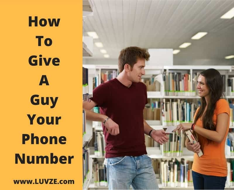 How To Give A Guy Your Number