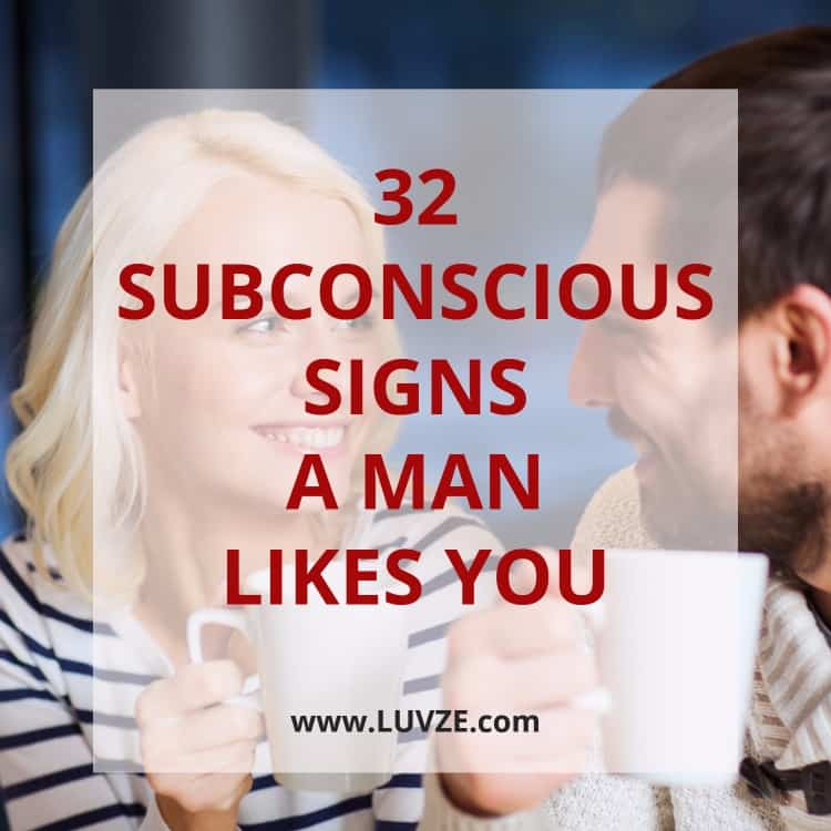 Weird signs he likes you