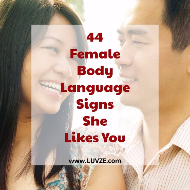 female body language signs she likes you