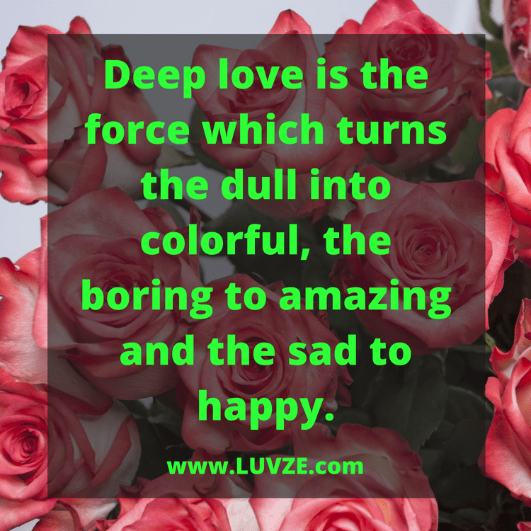 125 Romantic and Deep Love Quotes, Sayings and Messages