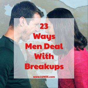 How Men Deal with Break Ups