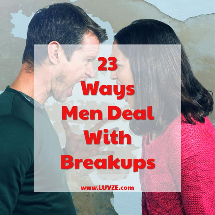 how men deal with breakups