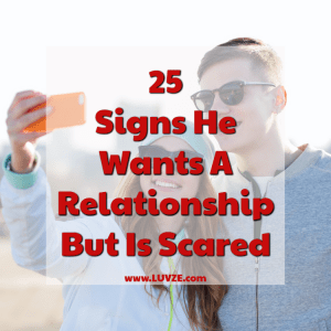 when a guy is scared of his feelings