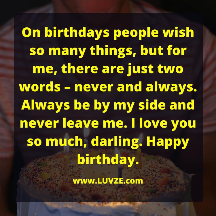 Happy birthday honey i love you quotes