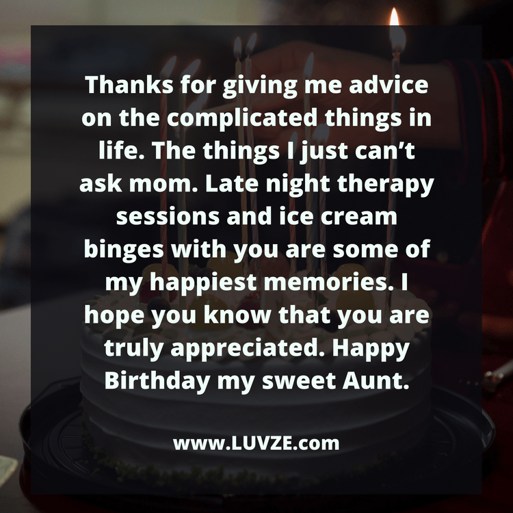 Happy Birthday Aunt: 110 Birthday Wishes & Messages with Images